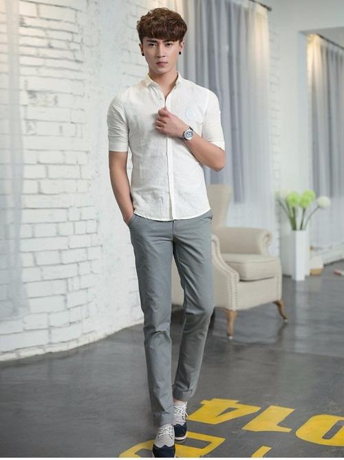 Áo sơ mi trắng nam mặc với quần gì để tự tin nhất?