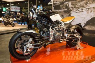 Thiết kế siêu dị của Bimota Tesi 3D Cafe Racer Carbon