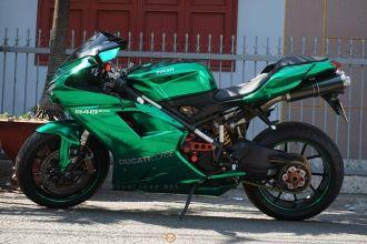 Ducati 848 Evo phiên bản xanh Crome bắt mắt