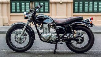 Hình ảnh Kawasaki Estrella 250 độ Tracker cực chất của biker Hà Thành