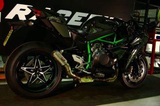 Kawasaki Ninja H2 Ghost Version với pô Racefit âm thanh xé gió