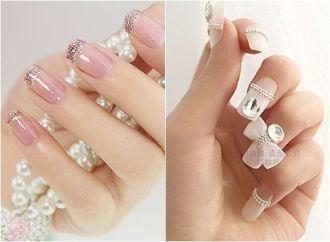 Những kiểu móng tay nail đẹp hình nơ cực dễ thương điệu đà