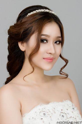 Những kiểu tóc cô dâu đẹp đơn giản cho mọi khuôn mặt