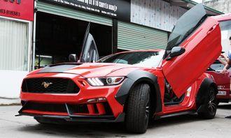 Ford Mustang 2015 độ cửa cắt kéo của tay chơi Lào Cai
