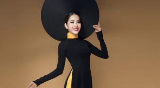 Hai bộ áo dài phong cách đối lập của Hoa khôi Nam Em