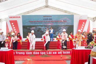 Hình ảnh trung tâm sát hạch lái xe mới của Honda Việt Nam